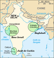 Indian Jews communities map-fr.png