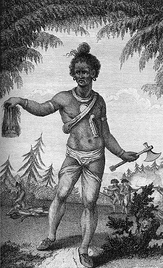 Norridgewock - Indian warrior with scalp