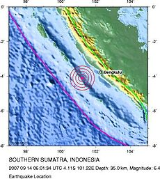 Indonesia quake location September 14 2007.jpg