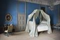 Interiör. Sängen i blå rummet - Skoklosters slott - 85959.tif