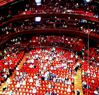 Kimmel Center for the Performing Arts - Interior of Verizon Hall at Intermission of the Philadelphia Orchestra matinee Concert on May 15, 2015.
