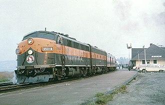 International (GN train) - The International at Blaine, Washington in 1965
