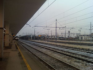 Foggia railway station - View of the station yard.