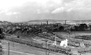 Inverness railway station - Inverness railway panorama in 1948