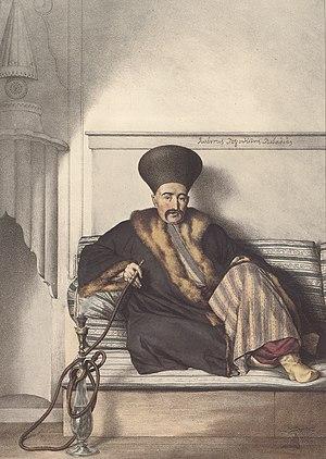 Kodjabashis - Ioannis Logothetis, proestos of Livadeia, by Louis Dupré
