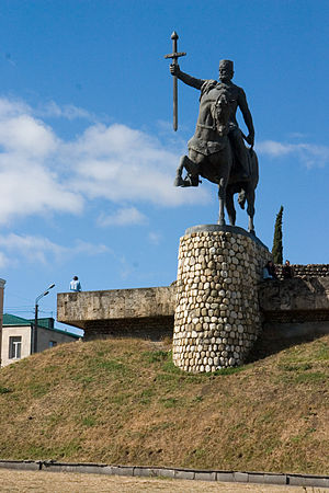 Heraclius II of Georgia - Monument of Erekle II in Telavi.