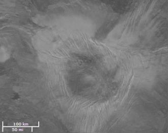 Irnini Mons - Magellan image of Irnini Mons