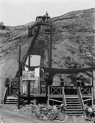 History of Santa Catalina Island (California) - The Island Mountain Railway at Avalon on Santa Catalina Island was an incline cable railway on the side of a hill. It operated from 1904-1918.