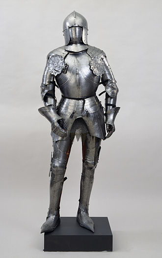 Plate armour - Italian suit of armour with sallet, c. 1450
