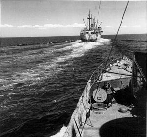 Operation Crusader - Italian convoy sailing towards North Africa, 1941
