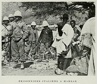 First Italo-Ethiopian War - Italian prisoners of war waiting for repatriation