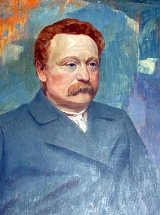 Ivan Franko - One of the many portraits of Ivan Franko by Ukrainian impressionist artist Ivan Trush.