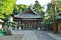 Izuhara-hachimangu-jinja, haiden.jpg