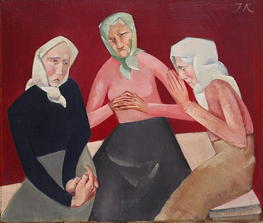 Jēkabs Kazaks - Three Old Ladies - Google Art Project