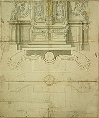 Design for the lower part of an altar