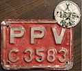 JAMAICA taxi plate with 1950-51 tab - Flickr - woody1778a.jpg