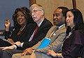 JC Hayward, Francis Collins, Griffin Rodgers, Janine Austin Clayton at NIH.jpg