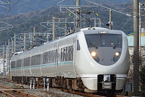 289 series - A 6-car 289 series EMU on a Kuroshio limited express service in February 2016