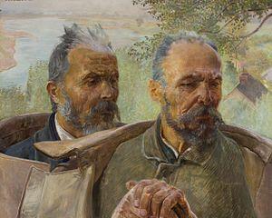 Dwie głowy starców