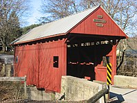 Jackson's Mill Covered Bridge, eastern portal and southern side.jpg