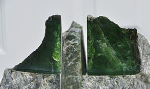Jade - Jade on display in Jade City, British Columbia, Canada