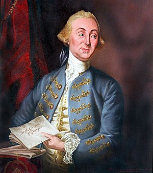 Capture of Savannah - Royal Governor James Wright, portrait by Andrea Soldi