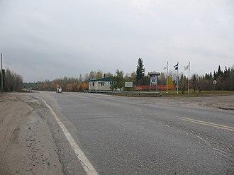 James Bay Road - Image: James Bay Road Check Point