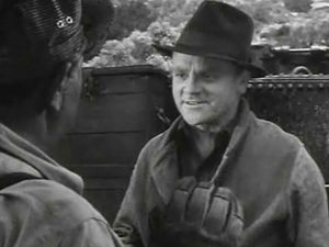 White Heat - Cagney in the film's opening robbery scene