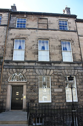 James Clerk Maxwell - James Clerk Maxwell's birthplace at 14 India Street, Edinburgh. It is now the home of the James Clerk Maxwell Foundation