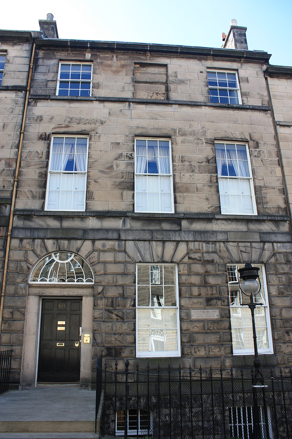 James Clerk Maxwell's birthplace at 14 India Street