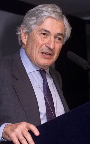 World Bank President James Wolfensohn speaking...
