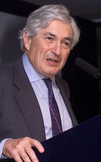 World Bank President James Wolfensohn speaking...