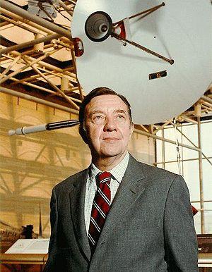 Pioneer H - Pioneer H at NASM, behind James A. Van Allen