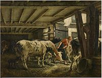 Jan Stobbaerts - Leaving the barn.jpg