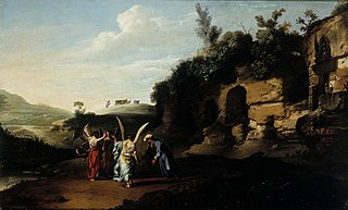 Abraham greets the angels