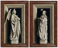 Jan van Eyck, Around 1390-1441 - The Annuciation Diptych - Google Art Project.jpg