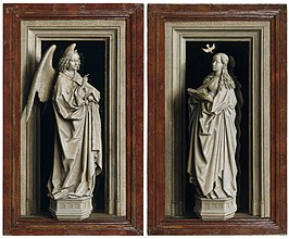 Jan van Eyck, Around 1390-1441 - The Annuciation Diptych - Google Art Project.jpg