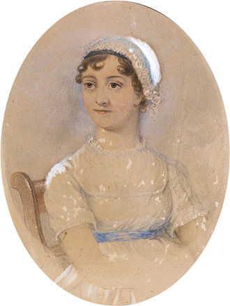 A Memoir of Jane Austen - Cassandra's sketch was the basis for this watercolour, made by James Andrews. This watercolour served as the source for later engravings.