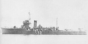W-13-class minesweeper - Image: Japanese minesweeper No 13 in 1933