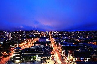Japan Center (San Francisco) - Image: Japantown at Night (3888292034)