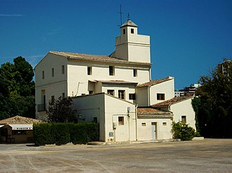 """Real (residence) - """"Alqueria de Canet"""" buildings within the Real Gardens in Valencia."""