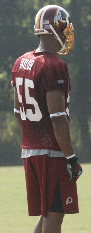 Jason Taylor (American football) - Taylor during the Redskins' training camp in 2008.