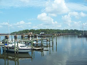 Trout River (Florida) - Image: Jax FL Trout River near US 17 Main St 01