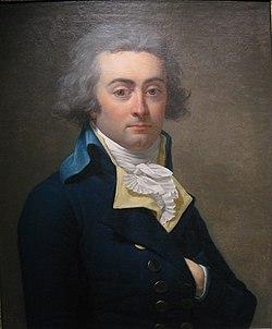 portrait peint rapproché de Hérault de Séchelles