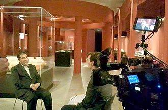 Jebrael Nokandeh - Jebrael Nokandeh, Director of National Museum of Iran during an interview with ZDF, a German public-service television on Iran's prehistoric cultural heritage exhibition in Bonn, 2017