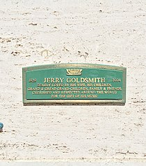 Jerry Goldsmith Grave.JPG