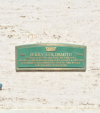 Jerry Goldsmith - Crypt of Jerry Goldsmith at Hillside Memorial Park