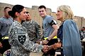 Jill Biden speaks with soldiers of the 2nd Infantry Division's 4th Stryker Brigade Combat Team.jpg