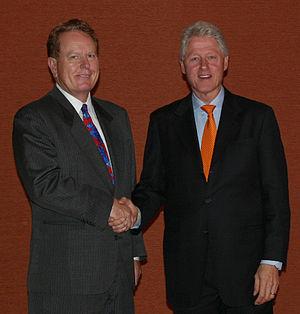 Jimmy Flynt - Jimmy Flynt with Former US President Bill Clinton