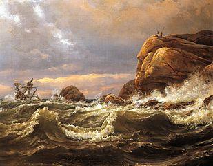 Shipwreck on the Coast between Larvik and Fredriksvern